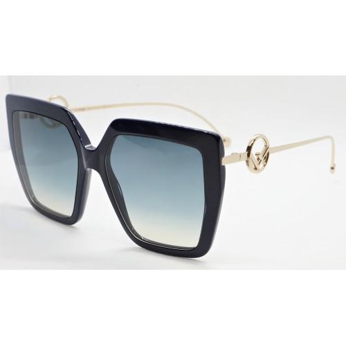 Fendi Okulary przeciwsłoneczne damskie FF0410/S 807 - granatowy, filtr UV 400
