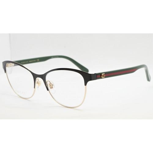 Gucci Oprawa okularowa damska GG0718O 004  - czarny, zielony