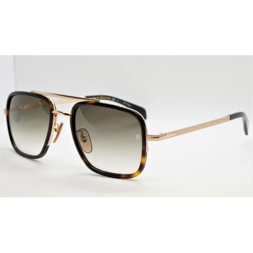 David Beckham Okulary przeciwsłoneczne męskie DB7002/S 06J9K - szylkret, złoty, filtr UV 400