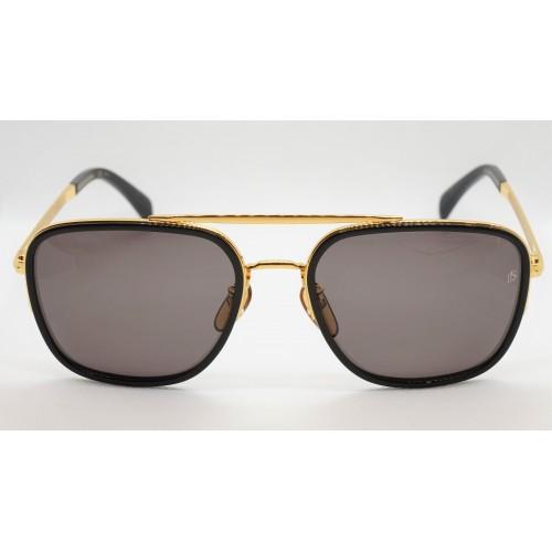 David Beckham Okulary przeciwsłoneczne męskie DB7039/F/S 2M2 - czarny, złoty, filtr UV 400