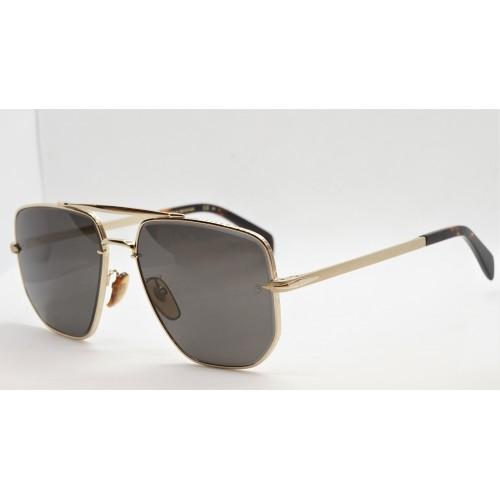 David Beckham Okulary przeciwsłoneczne męskie DB7001/S J5G - złoty, filtr UV 400