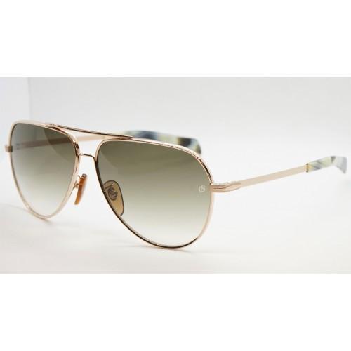 David Beckham Okulary przeciwsłoneczne męskie DB7031/S F6W - złoty, czarny, filtr UV 400