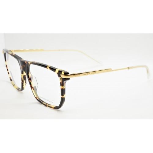 Bottega Veneta Oprawa okularowa męska BV1071O 002- szyrkletowy, złoty
