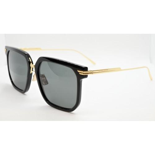 Bottega Veneta Okulary przeciwsłoneczne unisex BV1083SA 001- czarny, złoty, filtr UV400