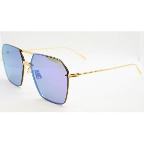 Bottega Veneta Okulary przeciwsłoneczne unisex BV1045S 003 - złoty, fioletowy, filtr UV400