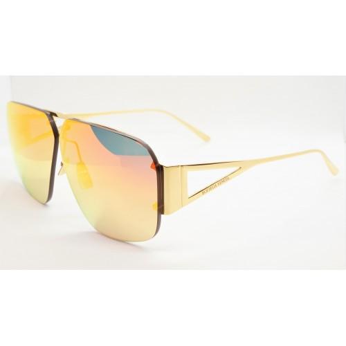 Bottega Veneta Okulary przeciwsłoneczne unisex BV1065S 003 - złoty, filtr UV400