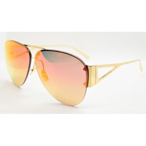 Bottega Veneta Okulary przeciwsłoneczne unisex BV1066S 003 - złoty, filtr UV400