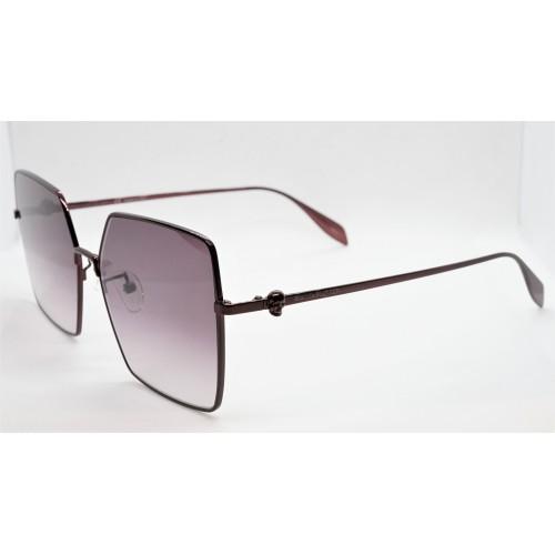 Alexander McQueen Okulary przeciwsłoneczne damskie AM0273S 004 - burgundowy, filtr UV 400