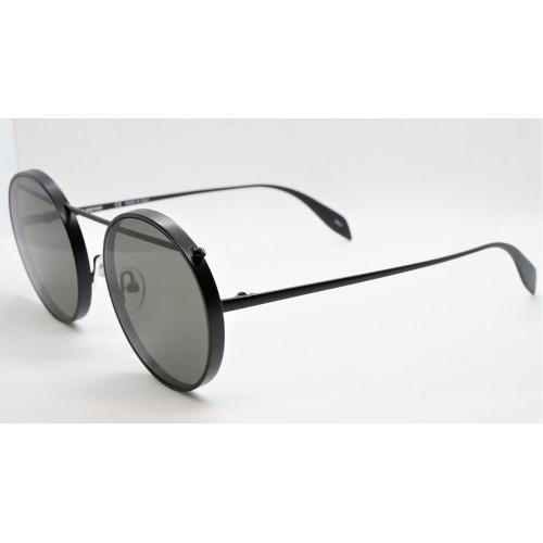 Alexander McQueen Okulary przeciwsłoneczne unisex AM0137S 002 - czarny, filtr UV 400