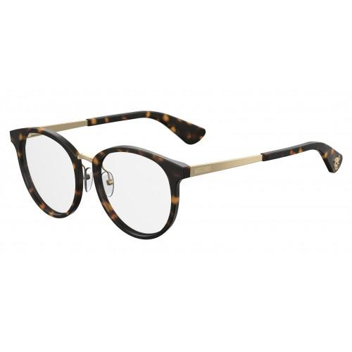 MOSCHINO Oprawa okularowa damska MOS507 086 - brązowy