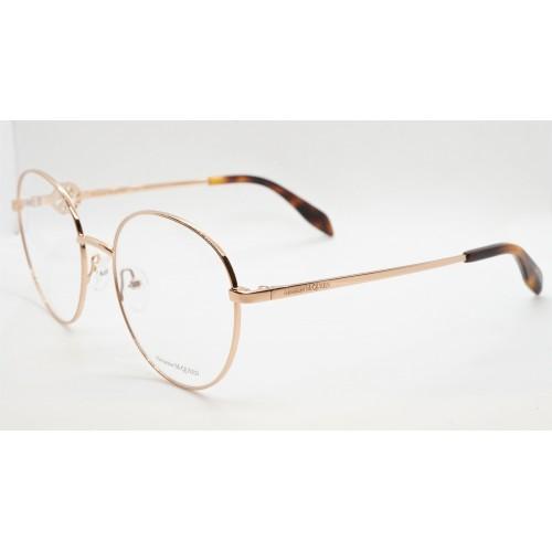 Alexander McQueen Oprawy okularowe damskie AM0291O 002 - złoty, różowy