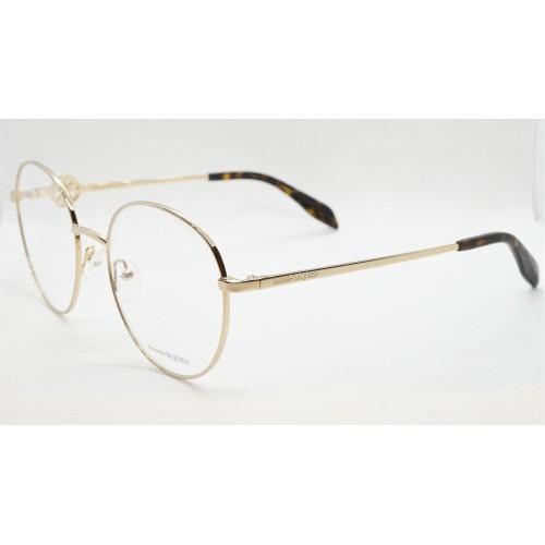 Alexander McQueen Oprawy okularowe damskie AM0291O 002 - złoty