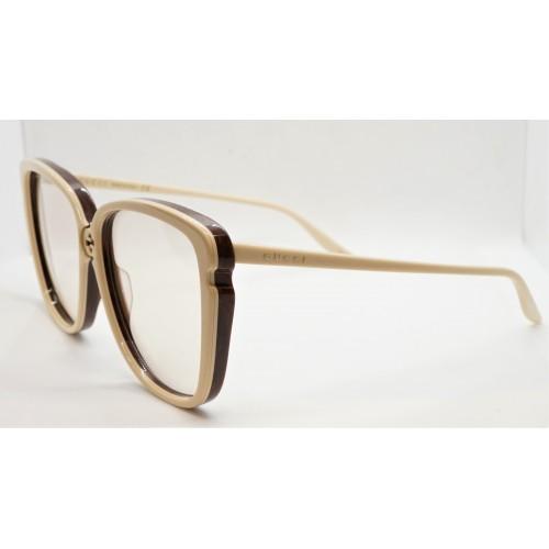 Gucci Okulary przeciwsłoneczne damskie GG0709S 003 - beżowy, filtr UV400