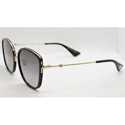 Gucci Okulary przeciwsłoneczne damskie GG0606SK 001 - złoty, czarny, filtr UV400