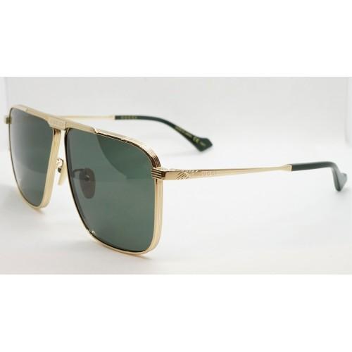Gucci Okulary przeciwsłoneczne męskie GG0840S 002 - złoty, filtr UV400
