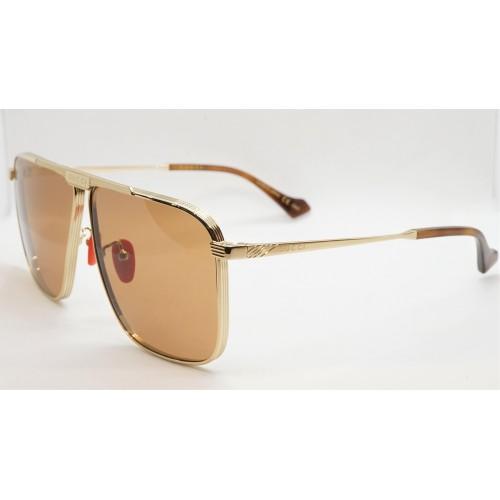 Gucci Okulary przeciwsłoneczne męskie GG0840S 004 - złoty, filtr UV400