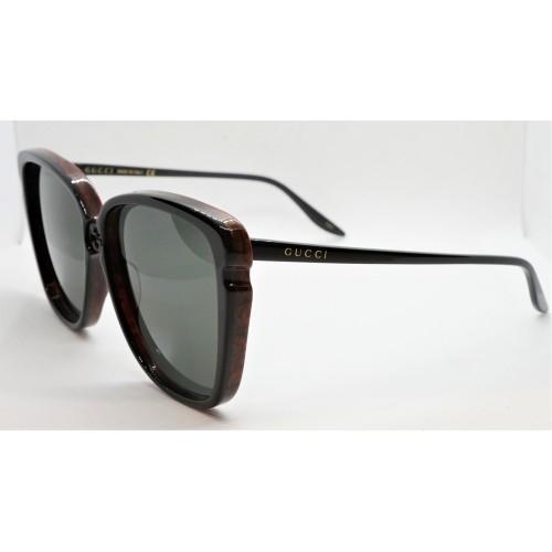 Gucci Okulary przeciwsłoneczne damskie GG0709S 002 - czarny, brązowy, filtr UV400