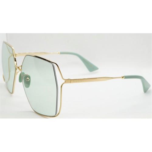 Gucci Okulary przeciwsłoneczne damskie GG0817S 003 - złoty, filtr UV400