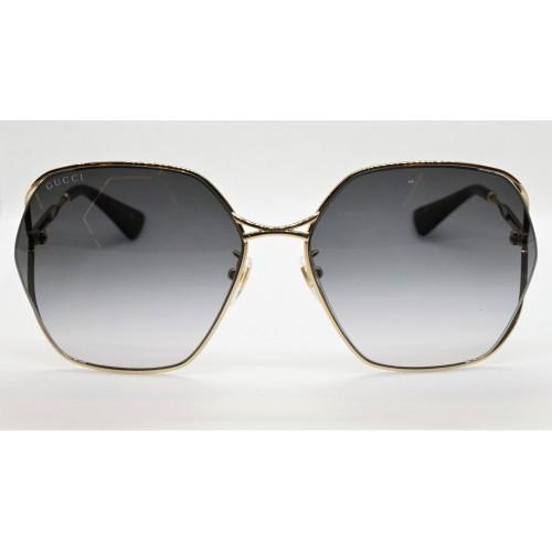 Gucci Okulary przeciwsłoneczne damskie GG0818SA 001 - złoty, filtr UV400