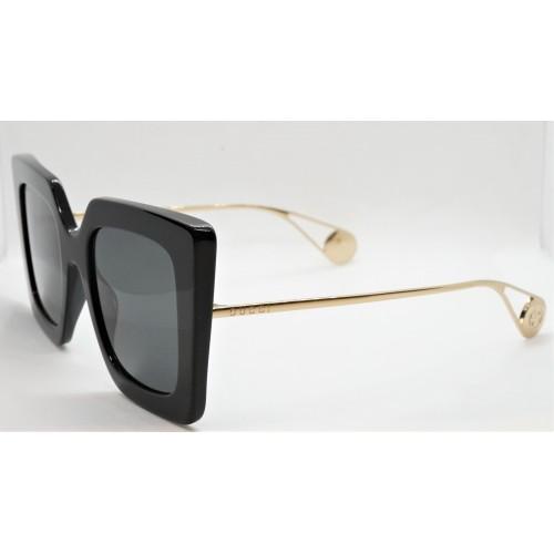 Gucci Okulary przeciwsłoneczne damskie GG0435S 001 - czarny, złoty, filtr UV400