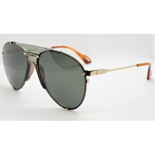 Gucci Okulary przeciwsłoneczne unisex, GG0740S 001 - szary, złoty, filtr UV400