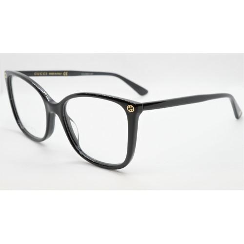Gucci Oprawa okularowa damska GG0026O 001- czarny
