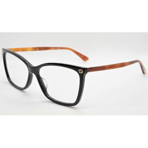 Gucci Oprawa okularowa damska GG0025O 003- czarny, szylkret