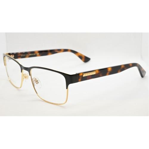 Gucci Oprawa okularowa męska GG0750O 002- szylkret, złoty