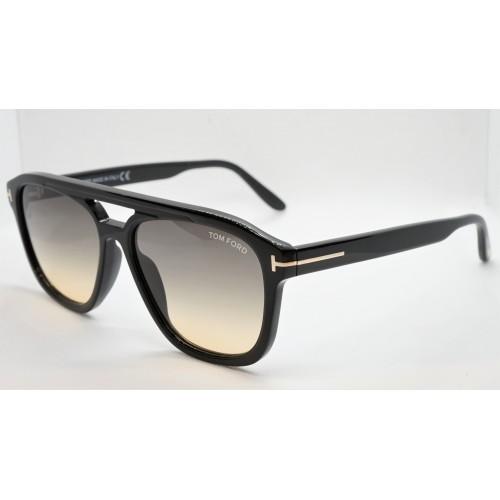 Tom Ford Okulary przeciwsłoneczne męskie FT776 01B - czarny