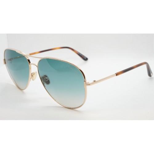 Tom Ford Okulary przeciwsłoneczne unisex FT 823 28P - złoty, zielony, filtr UV400