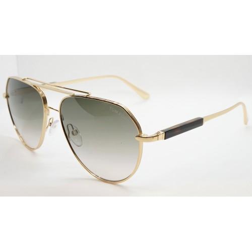 Tom Ford Okulary przeciwsłoneczne unisex FT 670 30B - złoty, szylkret, filtr UV400