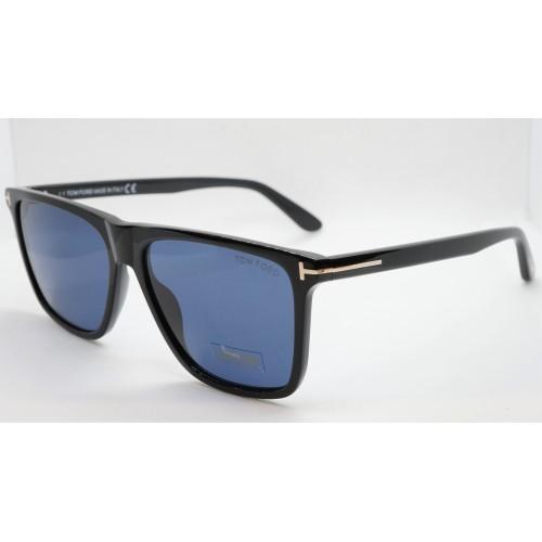Tom Ford Okulary przeciwsłoneczne męskie TF 832 01V - czarny, filtr UV400