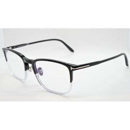 Tom Ford Oprawa okularowa męska TF5699-B 005 - czarny, transparentny