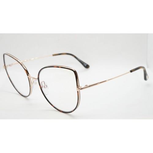 Tom Ford Oprawa okularowa damska TF5614-B 052 - złoty, szylkretowy