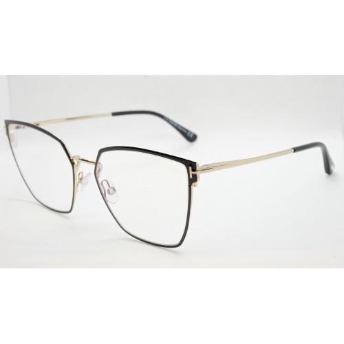 Tom Ford Oprawa okularowa damska TF5574-B 001 - złoty, czarny