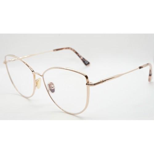 Tom Ford Oprawa okularowa damska TF5667-B 028 - złoto-różowy