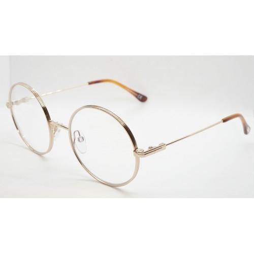 Tom Ford Oprawa okularowa damska TF5595-B 028 - złoto-różowy