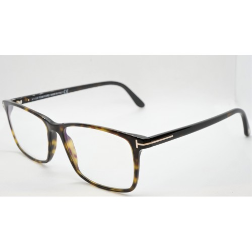 Tom Ford Oprawa okularowa męska FT5584-B/V 053 - szylkretowy