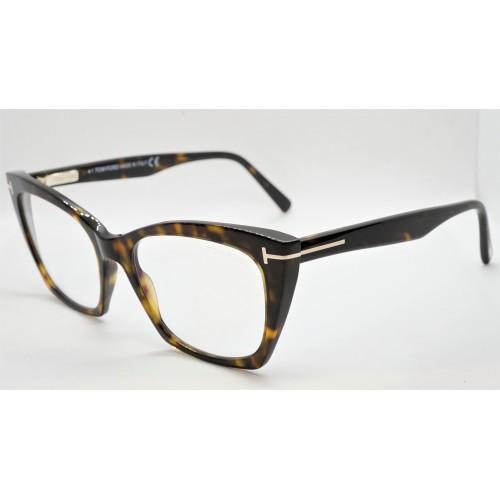 Tom Ford Oprawa okularowa damska FT5709-B 052 - szylkretowy