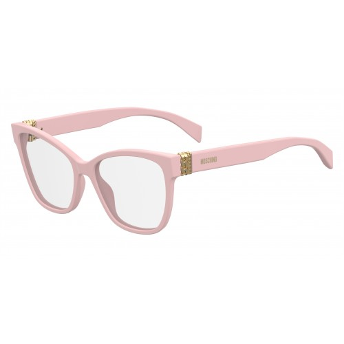 MOSCHINO Oprawa okularowa damska MOS510 035J - różowy