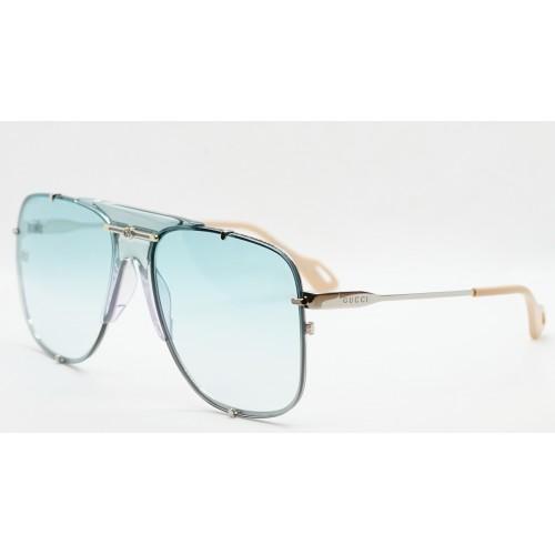 Gucci Okulary przeciwsłoneczne unisex GG0739S 005 - złoty, niebieski, filtr UV400