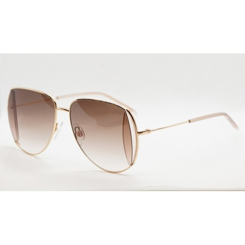 Ana Hickmann Okulary przeciwsłoneczne damskie HI3143 04A - złoty, brązowy, filtr UV 400