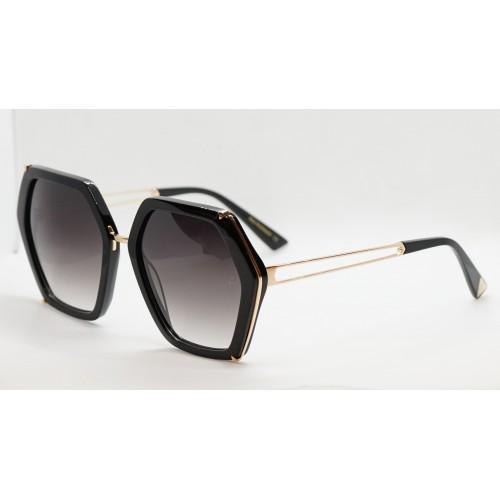 Ana Hickmann Okulary przeciwsłoneczne damskie AH9317 A02 - złoty, czarny, filtr UV 400