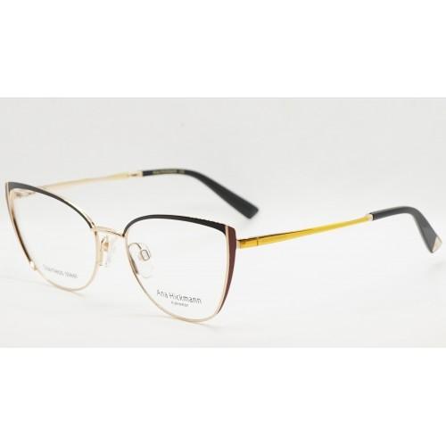 Ana Hickmann Oprawa okularowa damska AH1408 09A - złoty