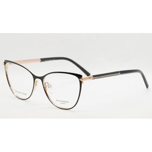 Ana Hickmann Oprawa okularowa damska AH1394 09A - złoty, czarny