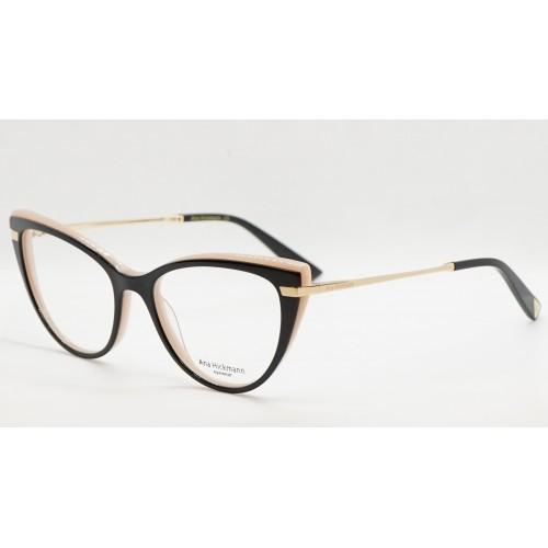 Ana Hickmann Oprawa okularowa damska AH6368 A01 - czarny, złoty