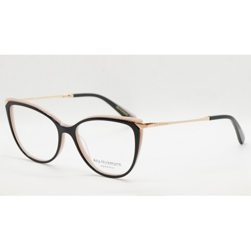 Ana Hickmann Oprawa okularowa damska AH6415 A01 - czarny, złoty