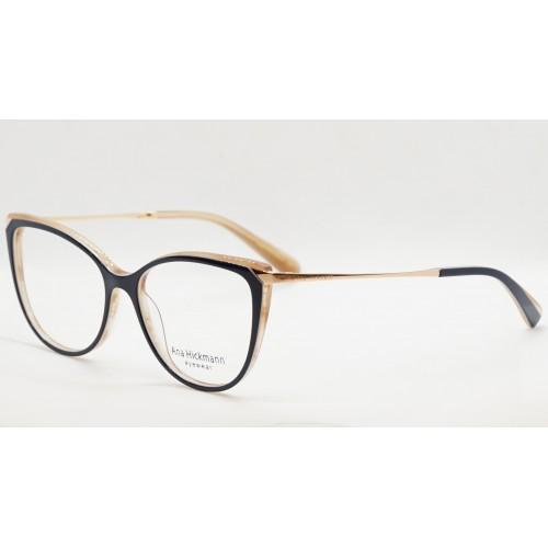 Ana Hickmann Oprawa okularowa damska AH6415 H02 - granatowy, złoty