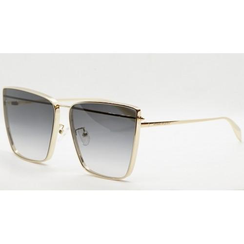 Alexander McQueen Okulary przeciwsłoneczne damskie AM0298S 001 - złoty, filtr UV 400