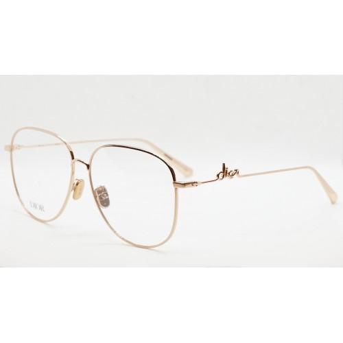 DIOR Oprawa okularowa damska DiorSignatureO AU - złoty, różowy
